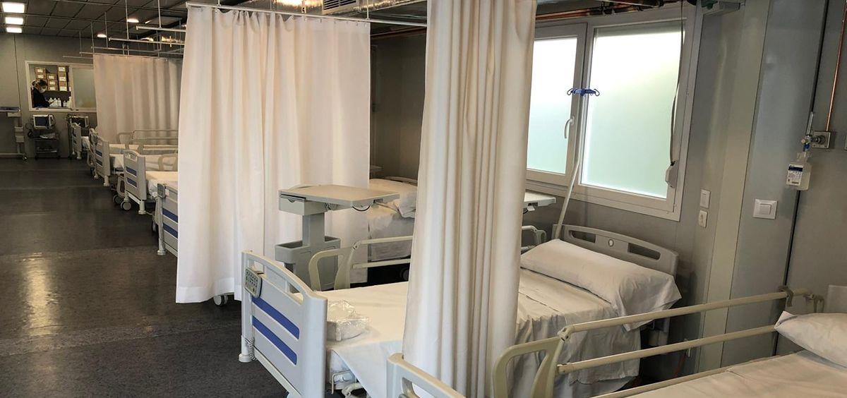 Hospital de campaña de Sanitas (Foto. ECSalud)