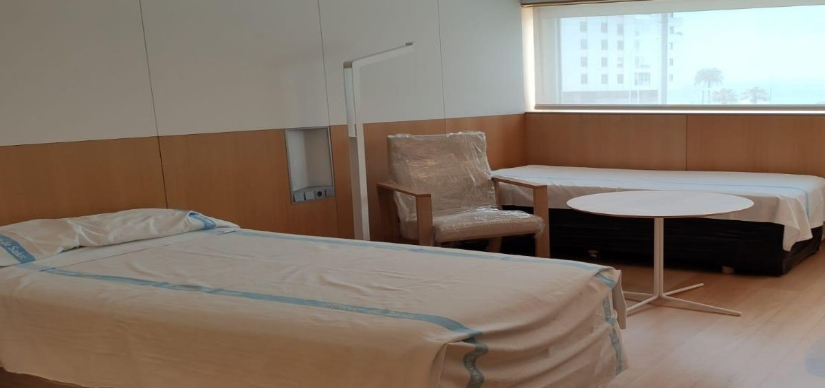 Imagen de una de las habitaciones del Hotel medicalizado Melià Palma Bay (Foto. Gobierno Islas Baleares)