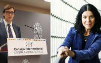Salvador Illa, ministro de Sanidad, y Patricia Lacruz, directora general de Cartera Básica y Farmacia (Montaje ConSalud)