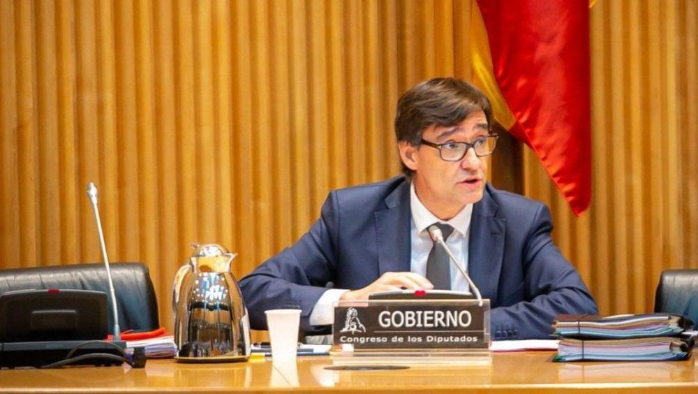 Salvador Illa en la Comisión de Sanidad (Foto. Congreso de los Diputados)