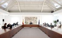 Pedro Sánchez preside la reunión del Comité de Técnicos del coronavirus (Foto. La Moncloa)