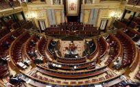 El Congreso de los Diputados, durante una de las sesiones celebradas con el Estado de alarma (Foto. Congreso)