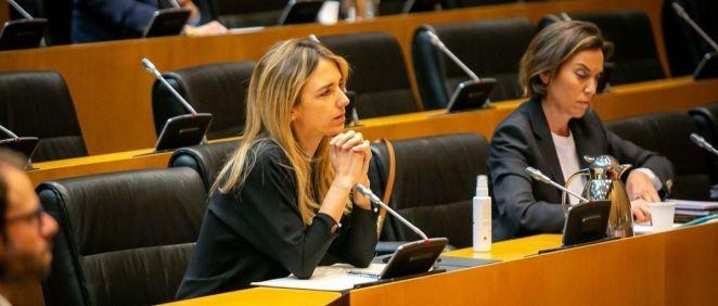 Cayetana Álvarez de Toledo y Cuca Gamarra, diputadas del PP (Foto. Grupo Parlamentario Popular)