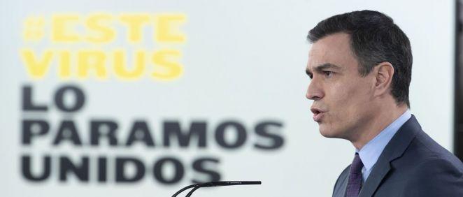 Pedro Sánchez, presidente del Gobierno, anuncia una nueva prórroga del Estado de Alarma (Foto. La Moncloa)