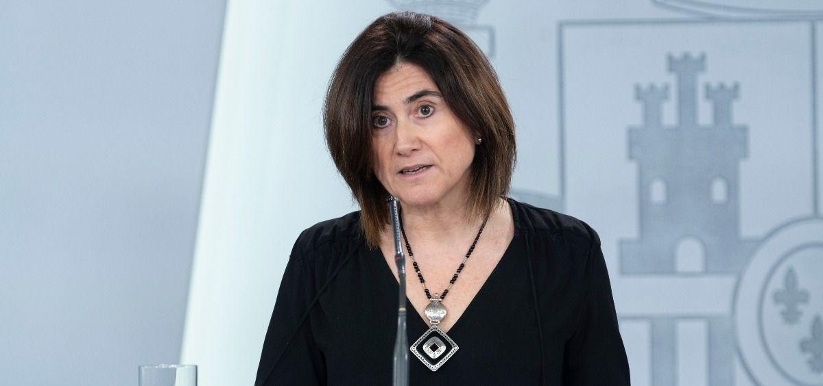 María José Sierra, portavoz del CCAES (Foto. Pool Moncloa / Borja Puig de la Bellacasa)