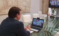 Guillermo Fernández Vara, durante la Conferencia de Presidentes (Foto: Junta de Extremadura)