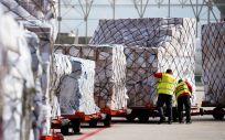 Llegada de material sanitario (Foto: Comunidad de Madrid)