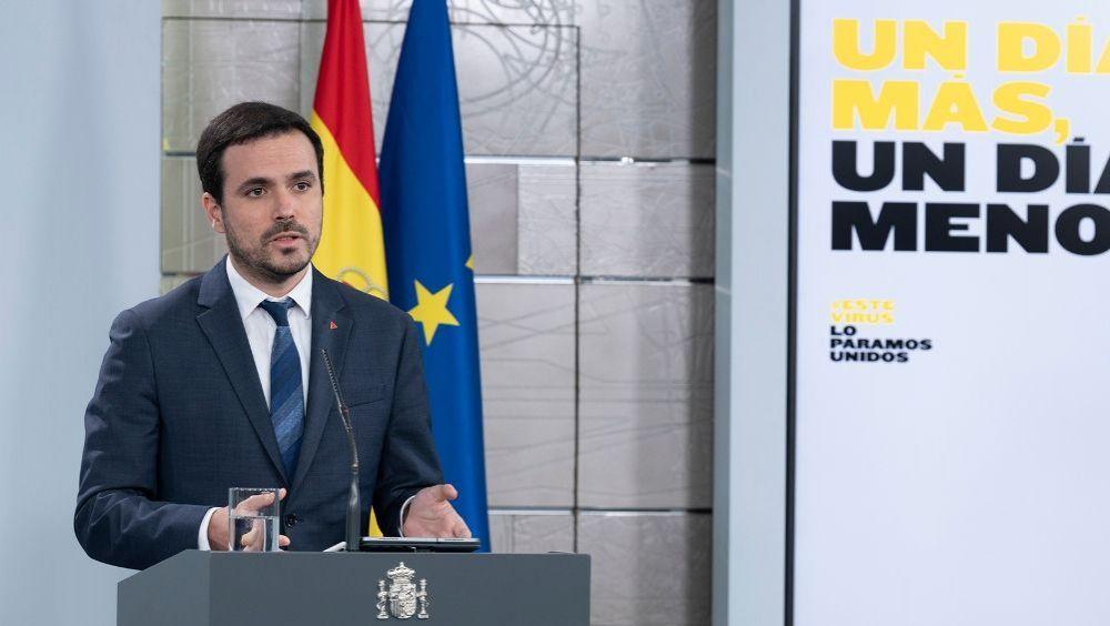 Alberto Garzón, ministro de Consumo. (Foto. Pool Moncloa   Borja Puig de la Bellacasa)