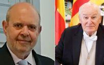 El doctor Miguel Bernad y el catedrático emérito Antonio García García (Fotomontaje ConSalud.es)