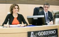 Dolors Montserrat, durante su exposición en la Comisión.