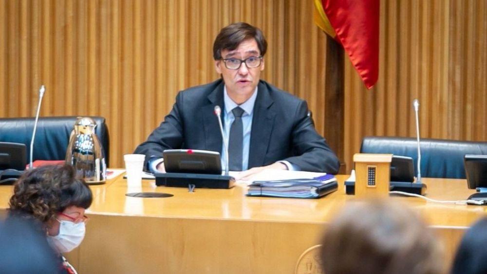 Salvador Illa en la Comisión de Sanidad del Congreso (Foto. Flickr PSOE)