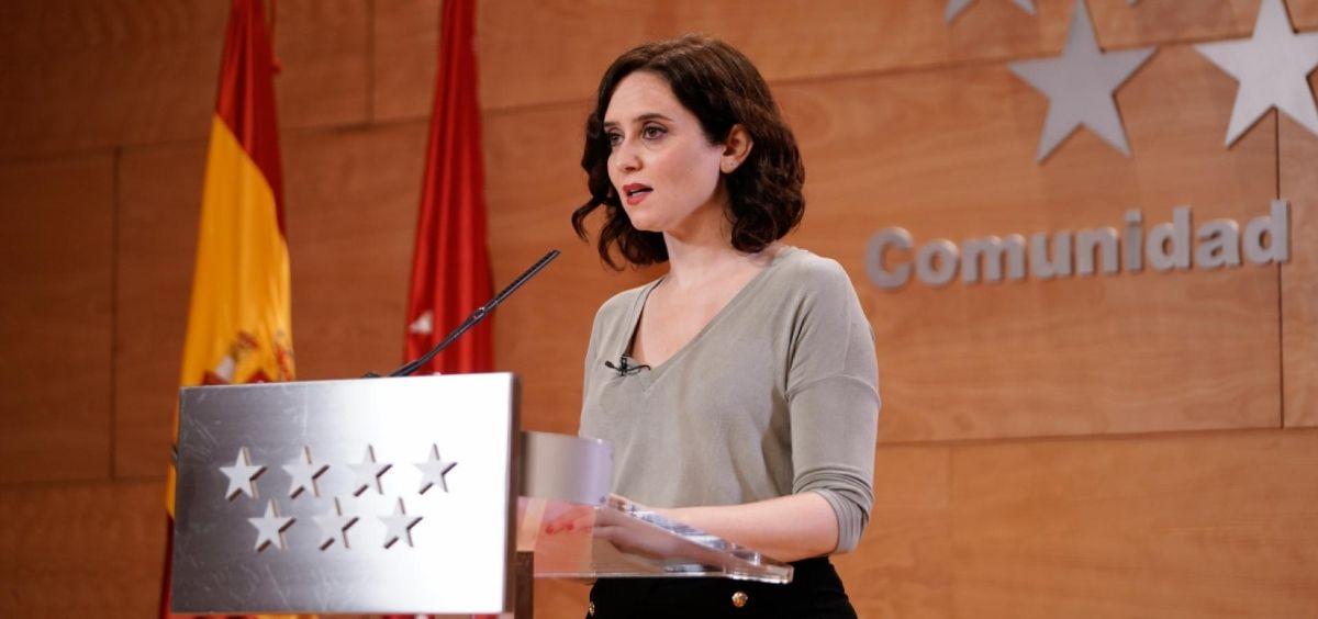La presidenta de la Comunidad de Madrid, Isabel Díaz Ayuso. (Foto. Comunidad de Madrid)