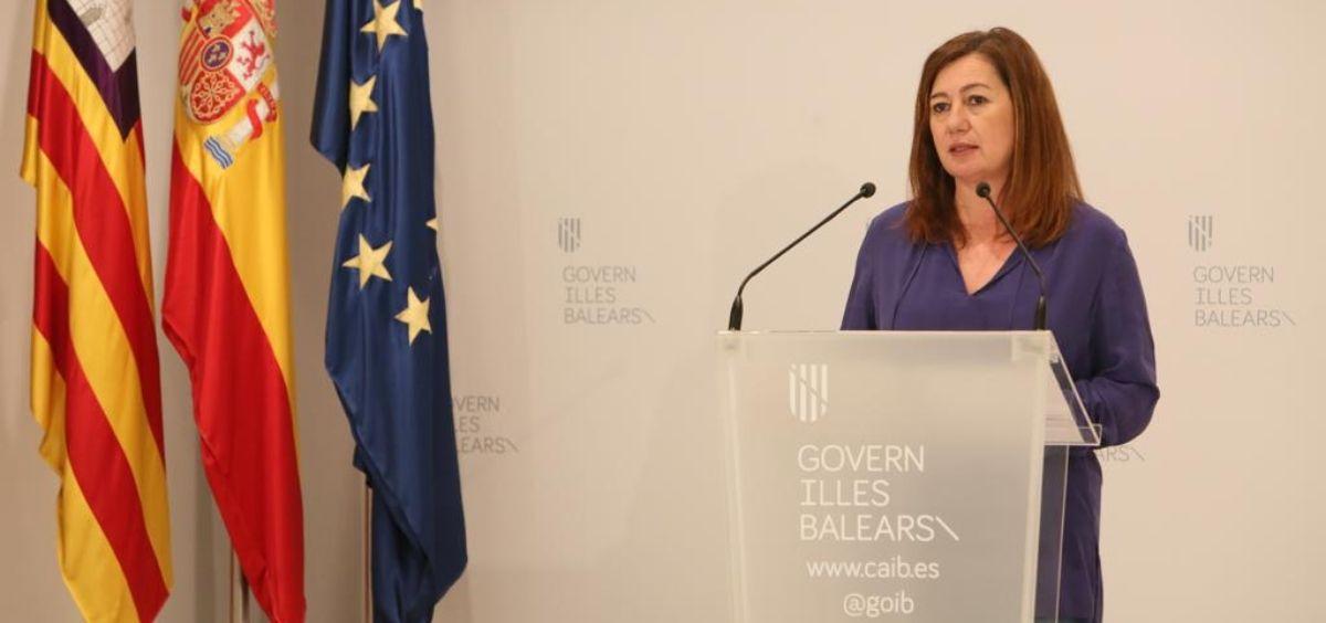 La presidenta del Gobierno de Islas Baleares, Francina Armengol. (Foto. Caib)