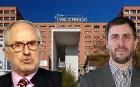 Rafael Ribó, titular de El Defensor del Pueblo de Cataluña (izquierda) y Toni Comín, consejero de Salud de Cataluña (derecha).