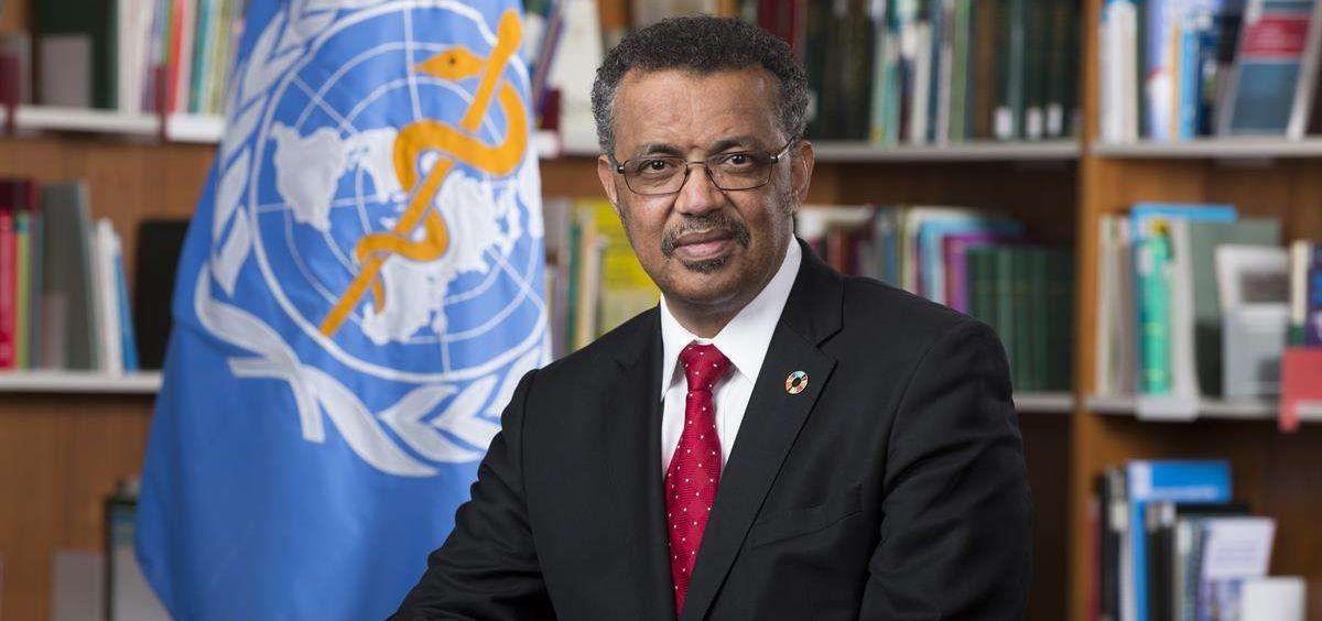 El director general de la Organización Mundial de la Salud, Tedros Adhanom Ghebreyus, (Foto. OMS)