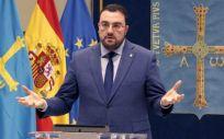 Adrián Barbón, presidente del Principado de Asturias, deja claro que la decisión última corresponde al Gobierno de España (Foto. Principado de Asturias)