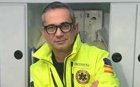 Alberto Luque, enfermero de UVI móvil con base en Alcázar de San Juan (Fotos: Cedidas por el autor)