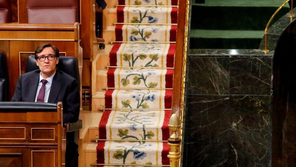 El ministro de Sanidad, Salvador Illa, en el Congreso de los Diputados (Foto: Flickr PSOE)