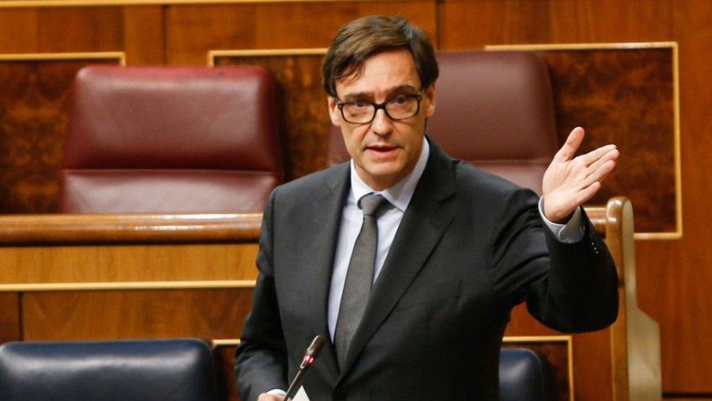Salvador Illa, ministro de Sanidad, interviene en el Congreso (Foto. Congreso de los Diputados )
