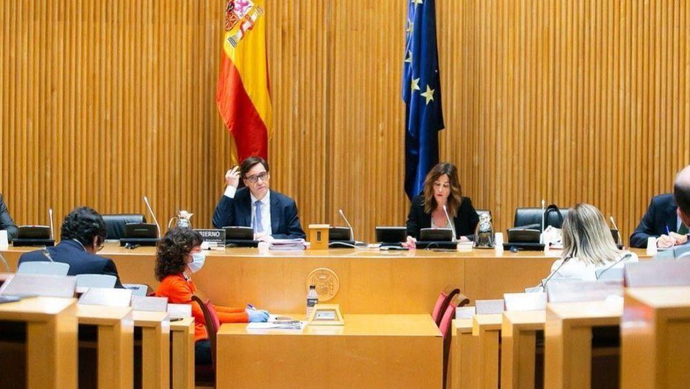 Instante de la intervención de Salvador Illa en la Comisión de Sanidad del Congreso (Foto: Flickr PSOE)