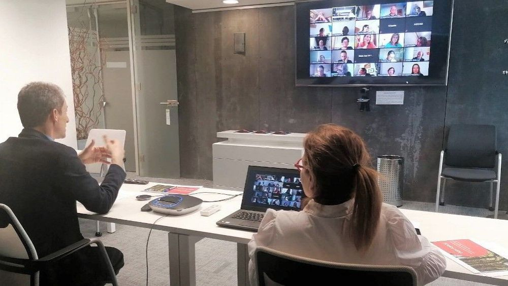Videoconferencia ministro de Ciencia con consejeros. (Foto: Ministerio de Ciencia)