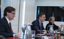 Reunión del Comité de Gestión del Coronavirus. (Foto. Pool Moncloa. Borja Puig de la Bellacasa)