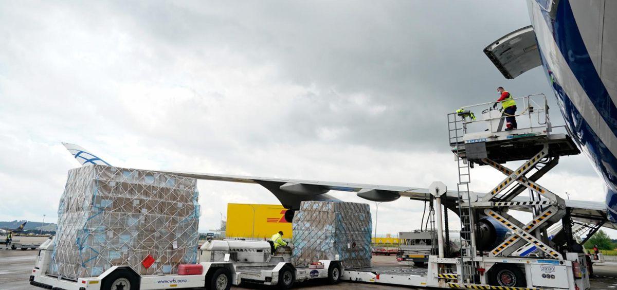 Coronavirus Madrid: decimotercer avión cargado con material