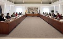 Reunión para abordar la desescalada presidida por Pedro Sánchez (Foto: La Moncloa)