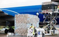 Avión con material sanitario (Foto. Comunidad de Madrid)