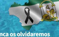 Imagen del vídeo institucional de la Junta de Andalucía que homenajea a los fallecidos por Covid 19.