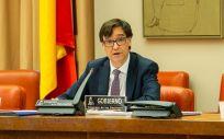 Salvador Illa en la Comisión de Sanidad del Congreso (Foto: Congreso)