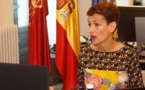 La presidenta del Gobierno de Navarra, María Chivite. (Foto. Gobierno navarro)