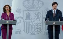 María Jesús Montero, portavoz del Gobierno, y Salvador Illa, ministro de Sanidad (Foto: Pool Moncloa / Borja Puig de la Bellacasa)