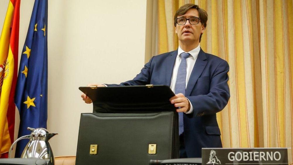 El ministro de Sanidad, Salvador Illa, en la Comisión de Sanidad (Foto: Congreso)