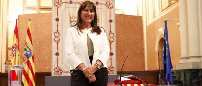 Sira Repollés, nueva consejera de Sanidad de Aragón, tras tomar posesión de su cargo (Foto: Gobierno de Aragón)
