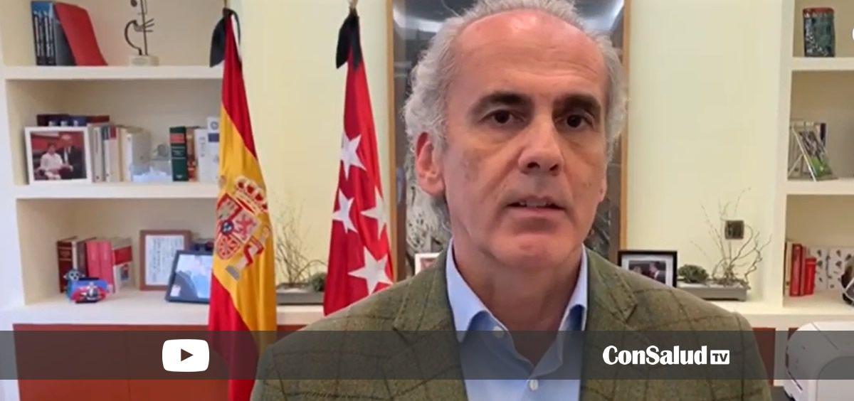Enrique Ruiz Escudero, consejero de Sanidad de la Comunidad de Madrid (Foto. Youtube ConSalud.es)