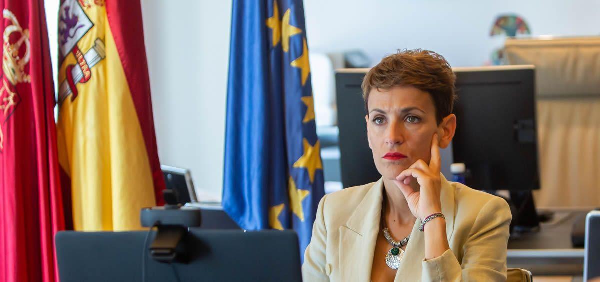 La presidenta de Navarra, María Chivite (Foto. Gobierno de Navarra)