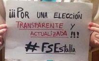 Fotografía compartida por los opositores de FSE en Twitter.