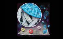 Representación del textil reutilizable para repeler los virus (Foto: Universidad de Pittsburgh)