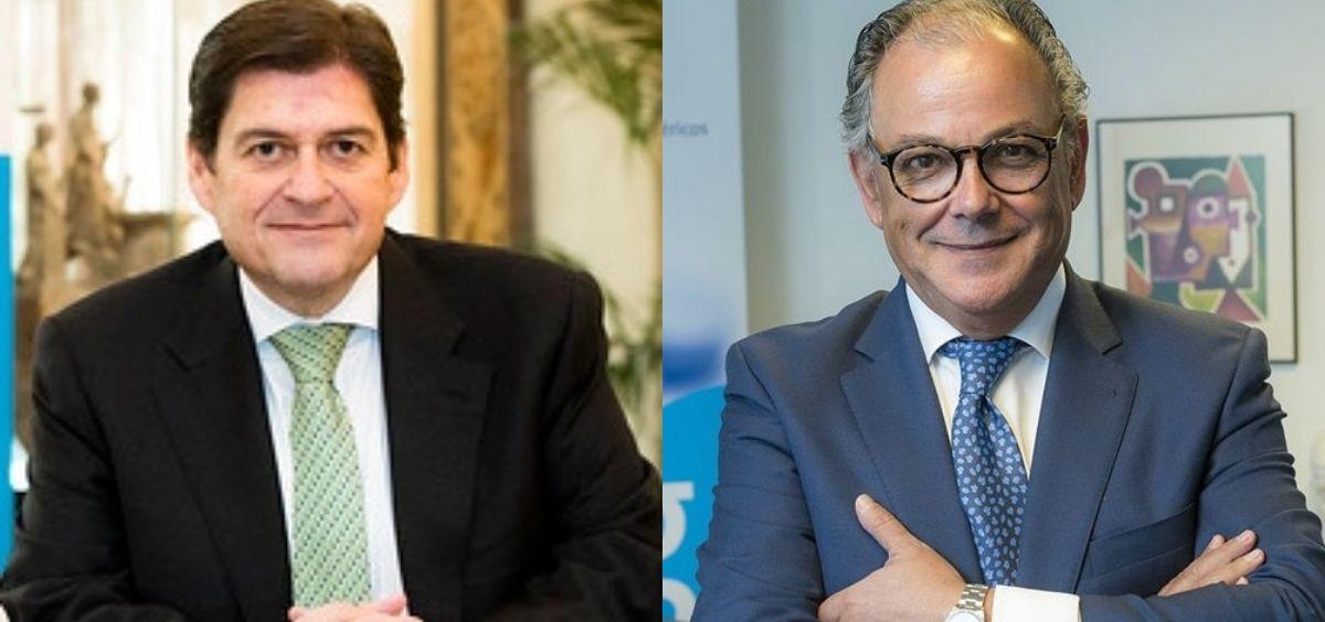 El presidente de Aeseg, Raúl Díaz-Varela, y el secretario general, Ángel Luis Rodríguez de la Cuerda.