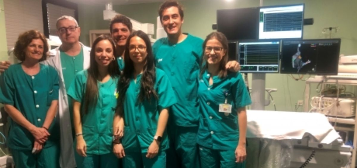 Equipo de la Unidad de Arritmias del Hospital Clínico Universitario Lozano Blesa (Foto. Gobierno de Aragón)