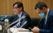 Salvador Illa en la Comisión de Sanidad del Congreso (Foto: Flickr PSOE)
