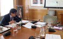 Salvador Illa y Teresa Ribera, durante las reuniones bilaterales con las comunidades autónomas