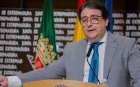 El vicepresidente segundo y consejero de Sanidad y Servicios Sociales de la Junta de Extremadura, José María Vergeles.