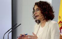 La ministra portavoz, María Jesús Montero. (Foto. Pool Moncloa/ JM Cuadrado)