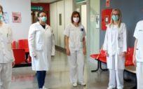 Profesionales del servicio de Dermatología del Hospital Miguel Servet (Foto. Gobierno de Aragón)
