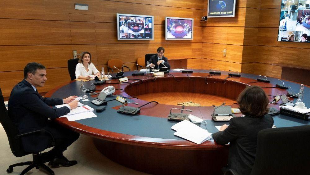 El Consejo de Ministros reunido en el Palacio de La Moncloa (Foto: Pool Moncloa / Borja Puig de la Bellacasa)