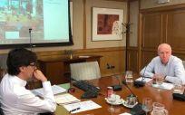 Una de las reuniones bilaterales entre el ministro de Sanidad y las comunidades autónomas (Foto: Ministerio de Sanidad)