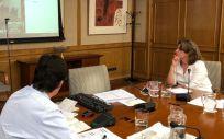 Imagen de una de las reuniones bilaterales celebradas en semanas anteriores (Foto: Ministerio de Sanidad)