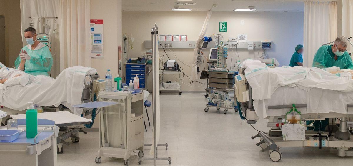 Pacientes ingresados en un centro hospitalario (Foto. Sescam)